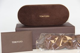 NEW TOM FORD SUNGLASSES EYEGLASSES OPTICAL HARD SMALL BROWN CASE CASE - $16.83
