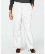 Karen Scott Plus Size Mid Rise Classic Pull On Pants White Size 1X New W... - $32.13