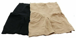 Rhonda Shear 2Pc Thigh Shaper Black Nude 1X NEW 645-606 - $22.75