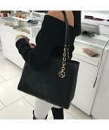 NWT Michael Kors Sofia Leather Large Embroidery Tote Shoulder Bag Black ... - $138.59
