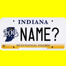 1/43-1/5 scale custom license plates any brand RC/model car - Indiana tag - $11.00