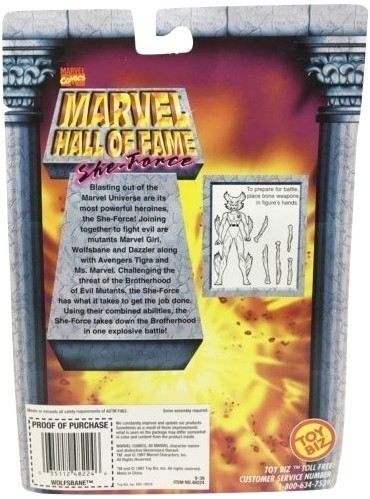 MARVEL HALL OF FAME SHE-FORCE WOLFSBANE ACTION FIGURE 1997 TOY BIZ