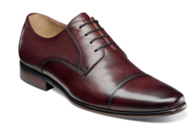 Florsheim Men Shoes Postino Cap Toe Oxford Burgundy Leather 15149-601   - $115.00