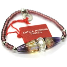 Bracelet Antica Murrina Venezia, BR614A05, Purple, Cones, Elastic, Murano - $870,26 MXN