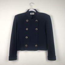 E26 Vintage St.John For Saks Fifth Avenue Knit 10 Long Sleeve Knit Blaze... - $117.81