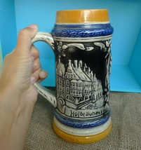 VTG Germany Collectibes Hofbrauhaus Frauenkirche Munchen Relief BEER MUG... - $28.00
