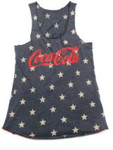 Coca-Cola Stars Racer Tank Top Size Large Blue Patriotic Americana  - BR... - $29.70