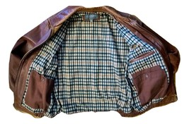 Buttery Smooth Wilsons MENS LARGE Brown Leather Bomber Jacket - $145.00