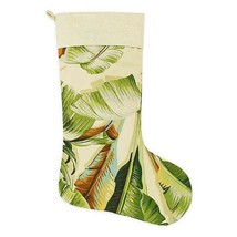 Tommy Bahama Christmas Stocking Palmiers Green Holiday Beach Summer Trop... - $44.43