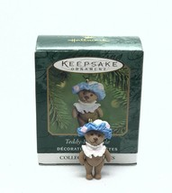 2000 Hallmark Miniature Ornament - Teddy-Bear Style #4 in the Series - $9.49