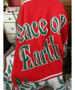 """""""Peace on Earth"""" Christmas Holly woven throw tapestry blanket  60""""x51"""" - $19.50"""