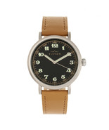 Elevon Felix Leather-Band Watch - Silver/Camel - $250.00