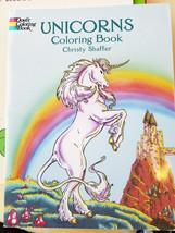 unicorns coloring book fantasy fairy tale folk ... - $3.99