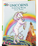 unicorns coloring book fantasy fairy tale folk ... - $3.99