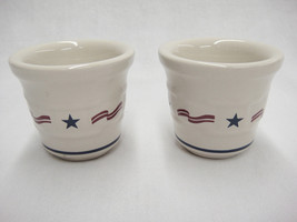 Longaberger Stars and Stripes Set of 2 Votives Woven Traditions All Amer... - $15.83