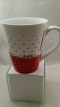 Starbucks Red Chevron Hearts Valentines Day Coffee Tea Mug 2013 - $9.49