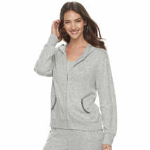 Women's Juicy Couture Silver Embellished Hoodie Jacket - Light Gray - Me... - $22.54