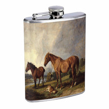 Horse Em1 Flask 8oz Stainless Steel Hip Drinking Whiskey - $13.81
