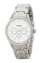 Fossil Flyn Silver Tone Stainless Steel Chrono Bracelet Watch BQ1740IE M... - $84.15