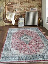 Rugsotic Carpets Cross Weave Machine Made Polyester 6' X 9' Vintage Area... - $215.00