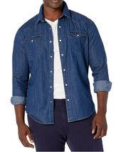 Levi's Men's Big & Tall Barstow Western Pearl Snap Casual Denim Dress Shirt image 7