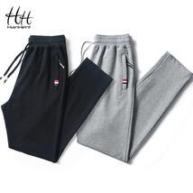 HanHent coton décontracté hommes survêtement pantalon Long solide couleu... - $15.99