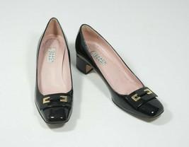 Isaac Mizrahi 6.5 Black Buckle Pumps Patent Leather - $38.00