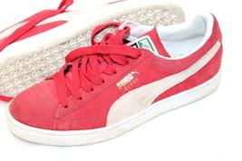 PUMA Size 7 Smash Men's Suede Shoes Red Retro Sneakers - $28.71