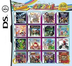 472 in 1 Compilations Video Game DS/3DS Cartridge Card Compatible Model Nintendo - $36.06