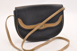 Christian Dior Leather Shoulder Bag Black Auth ar1063 - $130.00