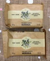 X 2 ~ The Body Shop Moringa Bar Soap 3.5 Oz / 100g Each NEW - $12.47