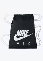 Nike Heritage Graphic Air Gymsack Draw String Bag Gym Bag - Black/White - $25.88