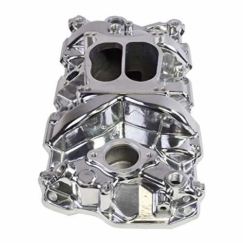 A-Team Performance Carbureted Polished Aluminum Dual Plane Intake Manifold Compa