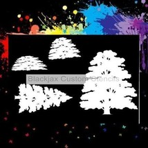 Trees & Bushes 01  Airbrush Stencil,Template - $10.99