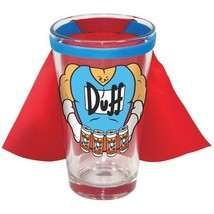 The Simpsons TV Series Duff Man 16 oz Red Caped Pint Glass, NEW UNUSED - $11.55