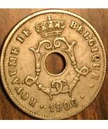 1906 BELGIUM 10 CENTIMES COIN - £2.40 GBP