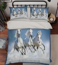 3D Sea Horses 25 Bed Pillowcases Quilt Duvet Cover Set Single Queen King Size AU - $90.04+