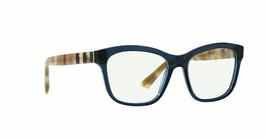 New Burberry BE2227 3603 Blue RX Prescription Eyeglasses Frames 54mm Italy - $376.20