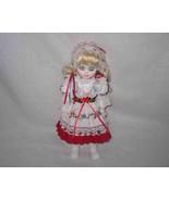 "Cute 11 1/2"" SWISS Girl Doll Traditional Dress - $26.91"