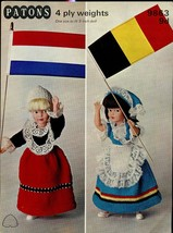 "Patons Knitting Pattern 9863 9d To Fit 9"" Dolls 4ply National Costume Series - $5.99"