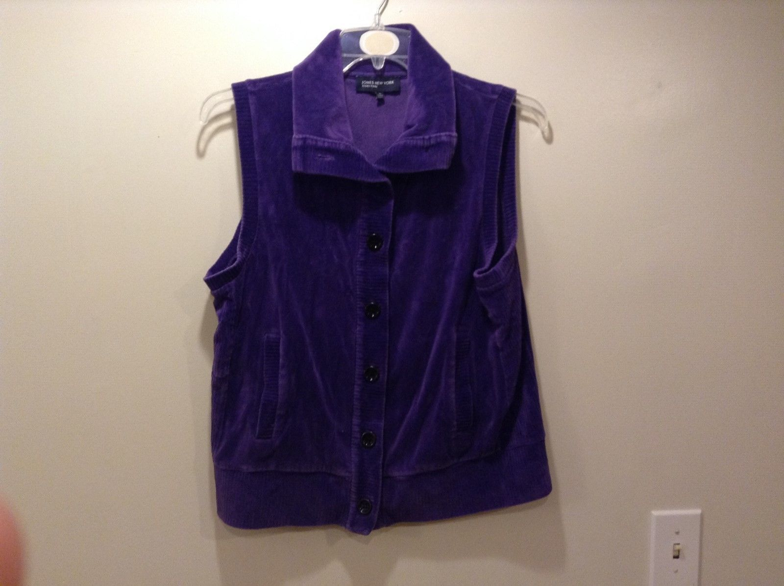 Jones New York Signature Cardigan Style Purple Vest