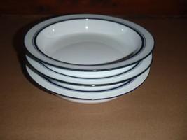 """3 Dansk Bistro Christianshavn Blue Portugal Rimmed 8"""" Pasta Soup Cereal Bowls - $28.04"""