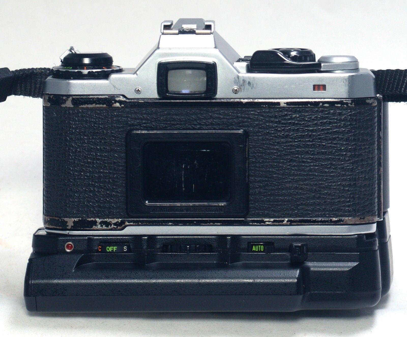 ASAHI PENTAX ME Vintage 35mm FILM Camera Winder 28-75mm f/3.5 Macro Zoom MC Lens