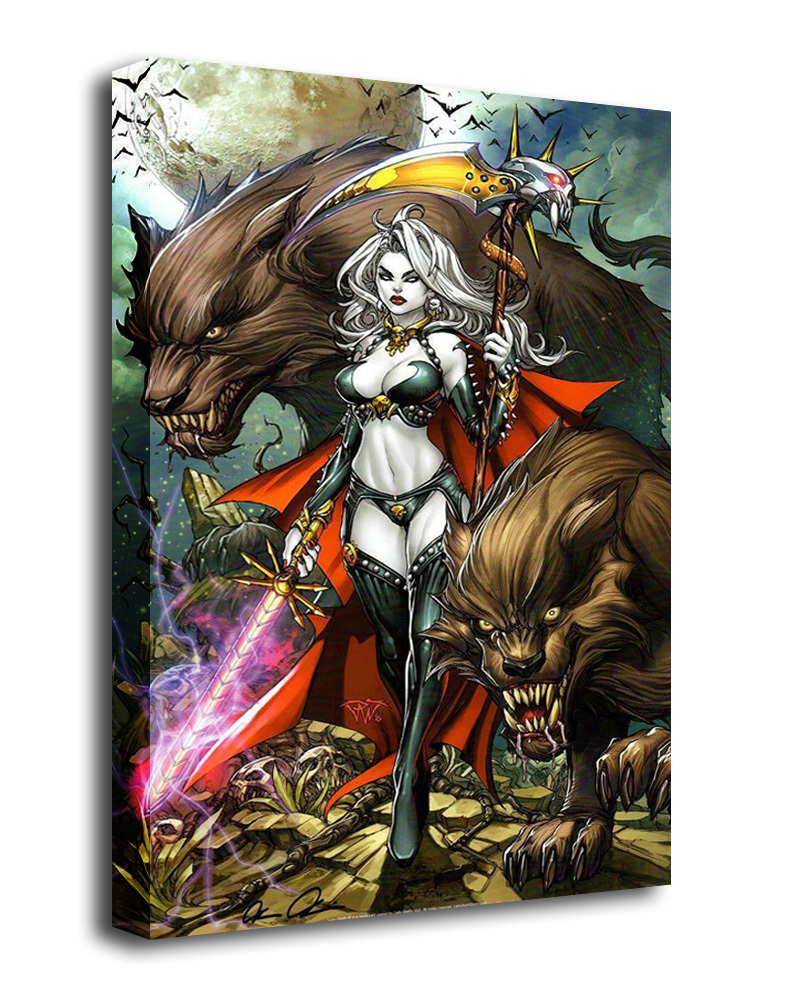 B1410 12x18 lady death oblivion kiss 1