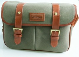 Nikon Dslr Bag Camera Bag Camera Slr Bag Shoulder Canvas - $43.75