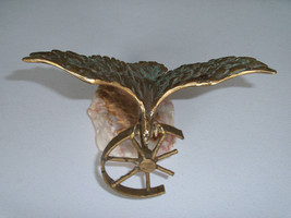 Curtis Jere Eagle & Wheel Table Sculpture on Onyx Base - $79.99