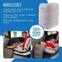 Travel Pillow - Inflatable Foot Rest Pillow with Airplane Travel Accessories image 4