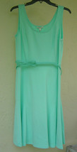 NWT SPENSE  GREEN BELTED A LINE DRESS SIZE 10 $88 - $24.49