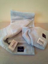 FIELDCREST 2Pc  Towel Set 100%Cotton 1 HAND Towel & 1 Washcloth Glowing Blue - image 4
