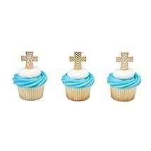 Gold Cross Cupcake Picks 12 Count - $4.93
